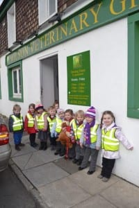 Arriving at Wilson's veterinary Surgery